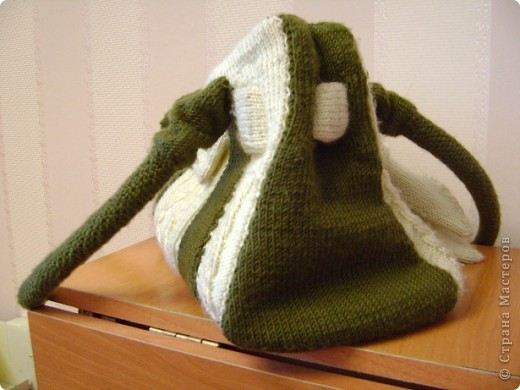Гардероб Вязание спицами: Мастер-класс сумка с аранами Пряжа.  Фото 3.