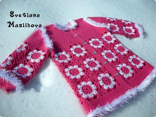 Гардероб Вязание, Вязание крючком: Кофточка к весне для доченьки. Пряжа. Фото 2