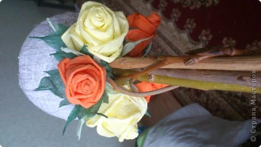 Мастер-класс, Поделка, изделие Бумагопластика, Моделирование, Оригами: МК часть2 Деревце из роз Клей, Материал природный, Салфетки. Фото 2