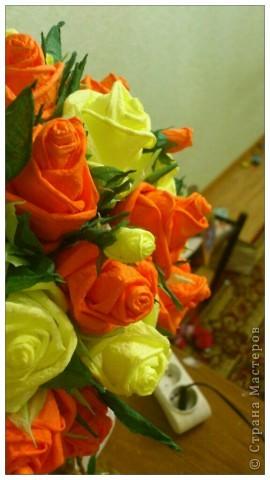 Мастер-класс, Поделка, изделие Бумагопластика, Моделирование, Оригами: МК часть2 Деревце из роз Клей, Материал природный, Салфетки. Фото 6