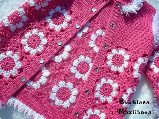 Гардероб Вязание, Вязание крючком: Кофточка к весне для доченьки. Пряжа. Фото 1
