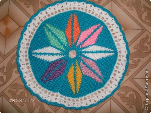 Поделка, изделие Вязание крючком: Цветы и тут и там Пряжа. Фото 2