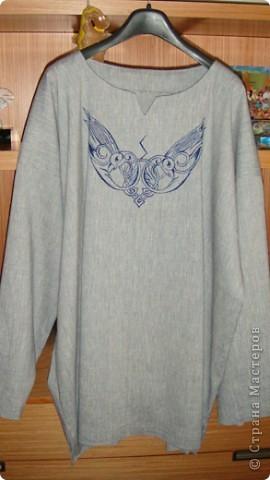 Гардероб Роспись, Шитьё: Мужская рубаха в русском стиле Краска, Ткань...