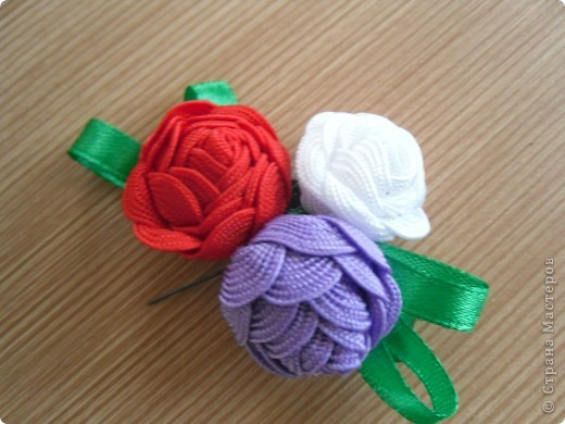 Мастер-класс Шитьё: Цветы-цветочки Тесьма 8 марта. Фото 1