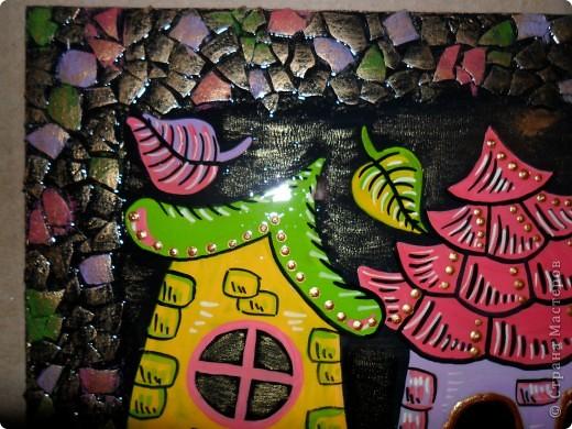 Картина, панно, Поделка, изделие Декупаж, Роспись: Ключницы. Гуашь, Салфетки, Скорлупа яичная, Фанера. Фото 3