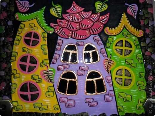 Картина, панно, Поделка, изделие Декупаж, Роспись: Ключницы. Гуашь, Салфетки, Скорлупа яичная, Фанера. Фото 2