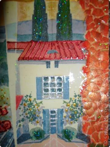 Картина, панно, Поделка, изделие Декупаж, Роспись: Ключницы. Гуашь, Салфетки, Скорлупа яичная, Фанера. Фото 11
