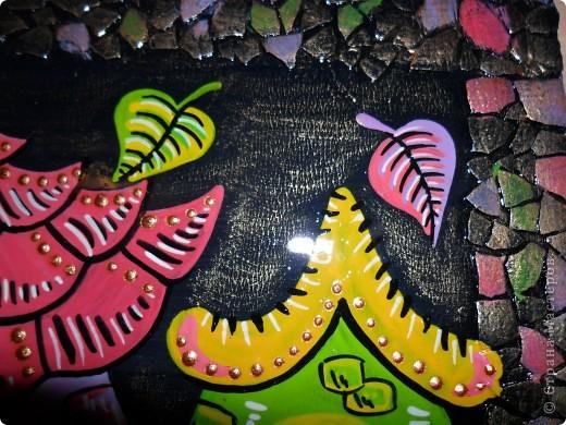 Картина, панно, Поделка, изделие Декупаж, Роспись: Ключницы. Гуашь, Салфетки, Скорлупа яичная, Фанера. Фото 4