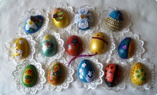 Мастер-класс Декупаж: МК по созданию яиц- магнитов к Пасхе Гипс,  Краска, Магниты, Салфетки Пасха. Фото 10