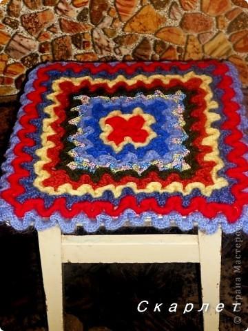 Декор предметов Вязание крючком: Сидушка на табурет . Фото 1