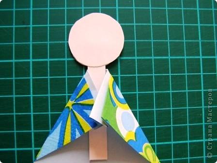 Куклы, Мастер-класс Моделирование: Как сделать бумажную японскую куколку Бумага. Фото 7