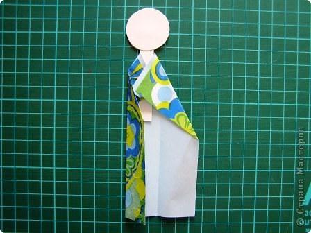 Куклы, Мастер-класс Моделирование: Как сделать бумажную японскую куколку Бумага. Фото 8
