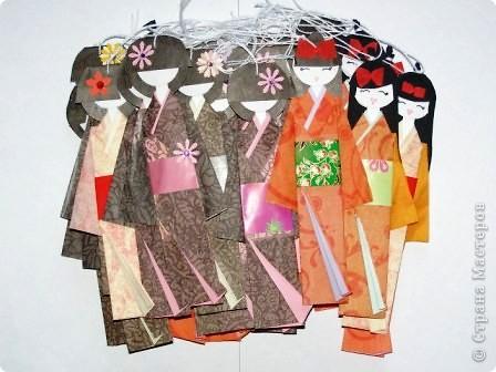 Куклы, Мастер-класс Моделирование: Как сделать бумажную японскую куколку Бумага. Фото 17