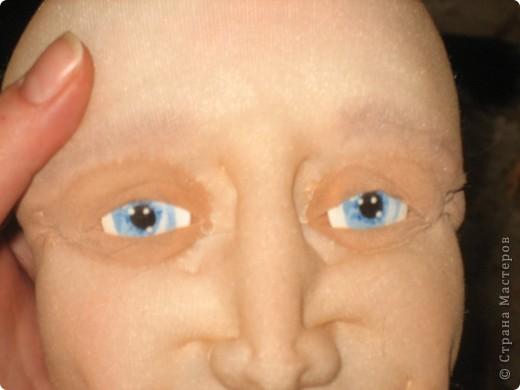 """Мастер-класс Шитьё: МК по """"живым"""" векам для куклы и мини МК по росписи глаз Капрон. Фото 18"""
