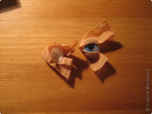 """Мастер-класс Шитьё: МК по """"живым"""" векам для куклы и мини МК по росписи глаз Капрон. Фото 9"""