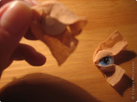 """Мастер-класс Шитьё: МК по """"живым"""" векам для куклы и мини МК по росписи глаз Капрон. Фото 10"""