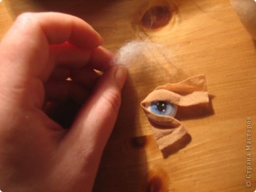 """Мастер-класс Шитьё: МК по """"живым"""" векам для куклы и мини МК по росписи глаз Капрон. Фото 11"""
