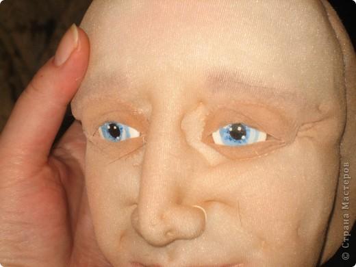 """Мастер-класс Шитьё: МК по """"живым"""" векам для куклы и мини МК по росписи глаз Капрон. Фото 17"""