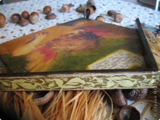 Декор предметов Декупаж: Ключница-оберег Салфетки. Фото 10