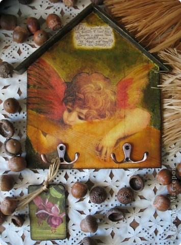 Декор предметов Декупаж: Ключница-оберег Салфетки. Фото 1