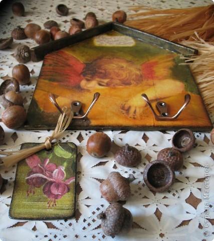 Декор предметов Декупаж: Ключница-оберег Салфетки. Фото 12
