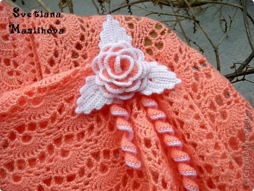 Гардероб Вязание, Вязание крючком: Персиковая шаль. Пряжа. Фото 1