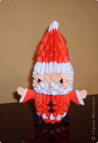 Поделка, изделие Оригами модульное: Модульное оригами .  САНТА Бумага.
