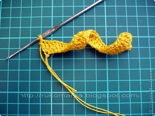 Мастер-класс, Украшение Вязание крючком: Вязаная резинка для волос  МК Пряжа. Фото 2