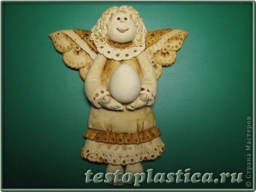 Мастер-класс, Поделка, изделие Лепка: Пасхальное украшение из соленого теста Тесто соленое Пасха. Фото 7