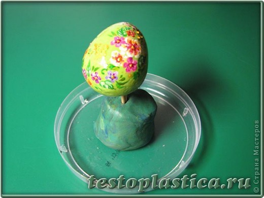Мастер-класс, Поделка, изделие Лепка: Пасхальное украшение из соленого теста Тесто соленое Пасха. Фото 9