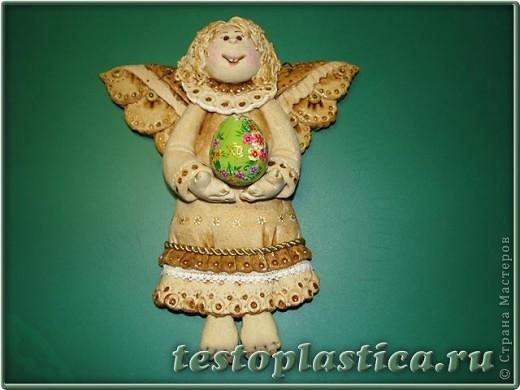 Мастер-класс, Поделка, изделие Лепка: Пасхальное украшение из соленого теста Тесто соленое Пасха. Фото 1