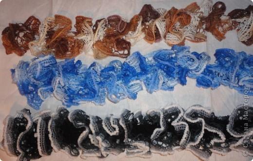 """Гардероб, Мастер-класс Вязание: Шарфики МК из пряжи """"Карнавал"""" Пряжа. Фото 11"""