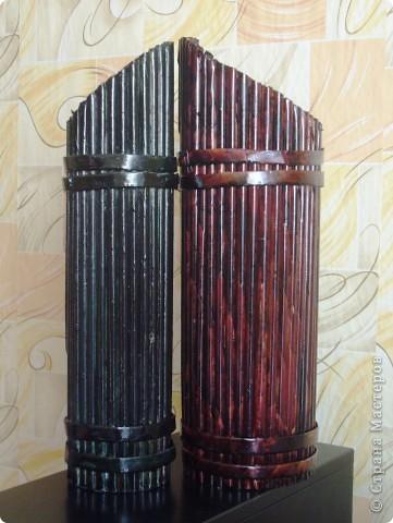 Из всего что мне приходилось делать, из газетных трубочек, подобные вазы самые легкие. Почему подобные, расскажу в конце МК.. Фото 28