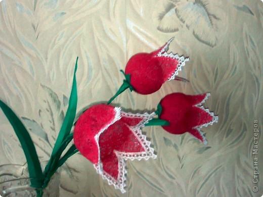 Как сделать цветы из ниток и клея своими руками