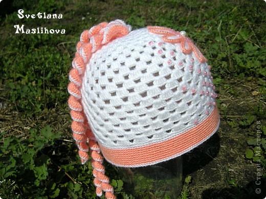 Гардероб Вязание крючком: Просто весенняя шапочка. Пряжа. Фото 6