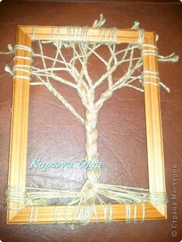 Своими руками дерево из ниток