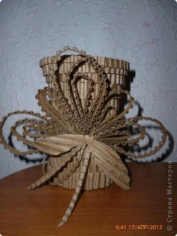 Как сделать вазу с картона