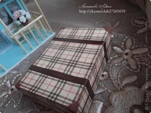 Поделка, изделие, Скрапбукинг: Миниатюра Чемодан Бумага. Фото 1