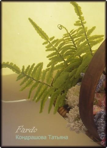 Мастер-класс, Поделка, изделие Лепка: Папоротник МК Фарфор холодный Отдых. Фото 1