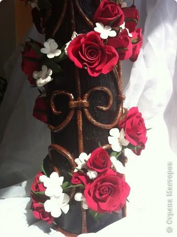 Доброе время суток всем мастерицам!!!Решила показать вам свою версию плетистой розы, которая плетется по