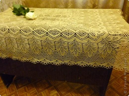 Вязание спицами прямоугольная скатерть
