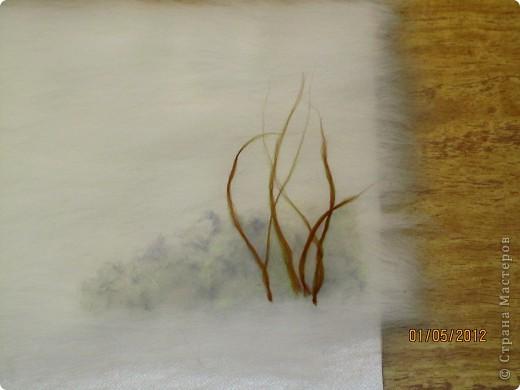 """Картина, панно, Мастер-класс Валяние (фильцевание): Картина из шерсти """"Осень в парке"""" Шерсть. Фото 6"""