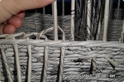 Мастер-класс, Поделка, изделие Плетение: типа кашпо и + маааленький мк по загибке Бумага. Фото 1