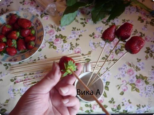 Как сделать букет из клубники пошагово
