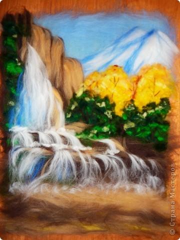 Мастер-класс Валяние (фильцевание): Водопад из шерсти Шерсть. Фото 12