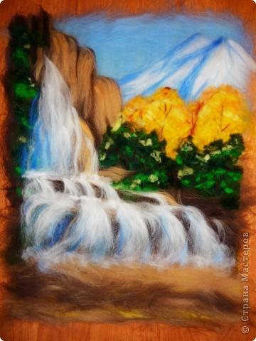 Мастер-класс Валяние (фильцевание): Водопад из шерсти Шерсть. Фото 13