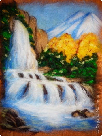 Мастер-класс Валяние (фильцевание): Водопад из шерсти Шерсть. Фото 14