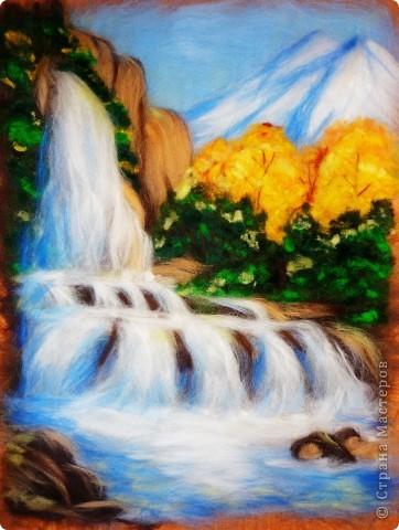 Мастер-класс Валяние (фильцевание): Водопад из шерсти Шерсть. Фото 15