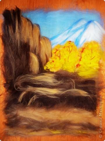 Мастер-класс Валяние (фильцевание): Водопад из шерсти Шерсть. Фото 8