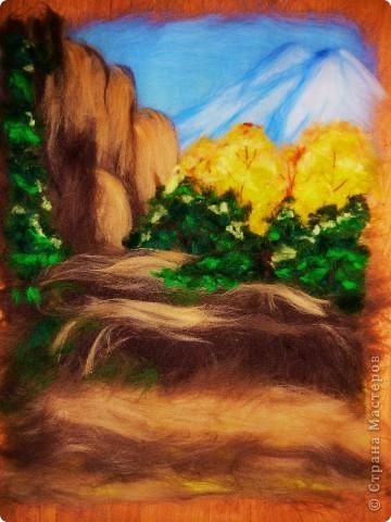 Мастер-класс Валяние (фильцевание): Водопад из шерсти Шерсть. Фото 9